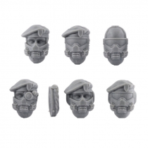 BERET AND GASMASK VETERAN HEADS