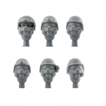 PASGT HEADS WITH GASMASKS
