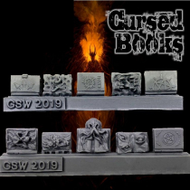 RESIN CURSED BOOKS