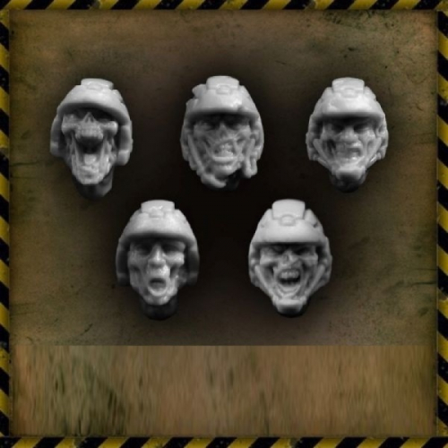 ZOMBIE TROOPERS HEADS (10)